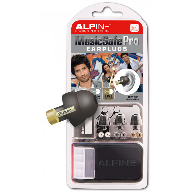 Alpine Music Safe Pro Ear Plugs Black