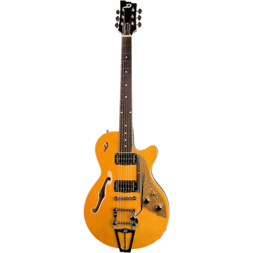 Duesenberg Starplayer TV Semi Hollow Guitar Trans Orange