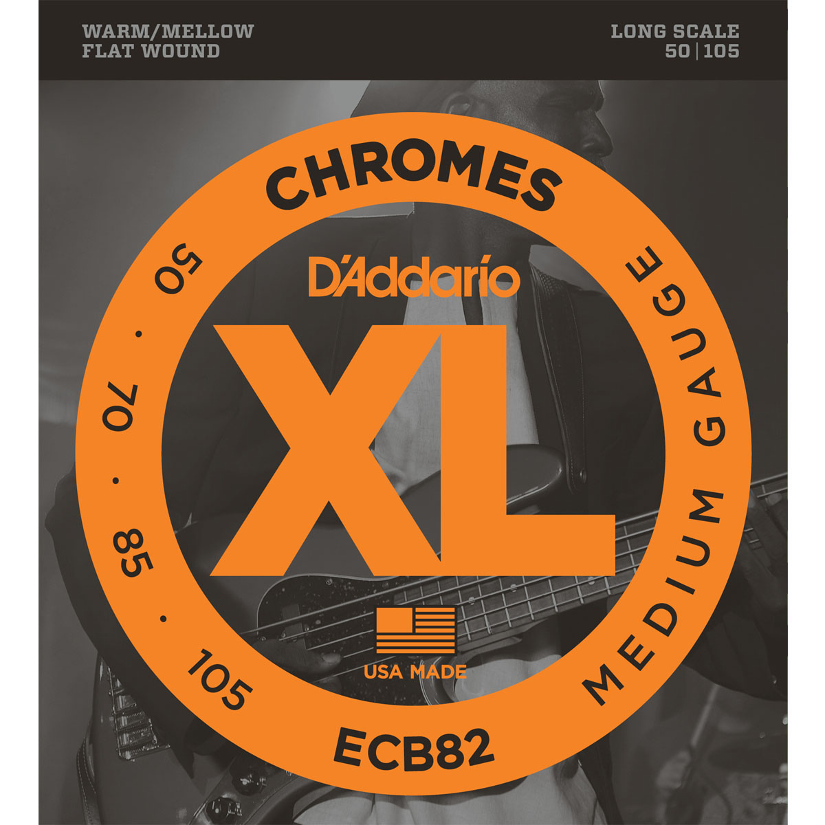 D'Addario ECB82 Flatwound Bass Guitar Strings
