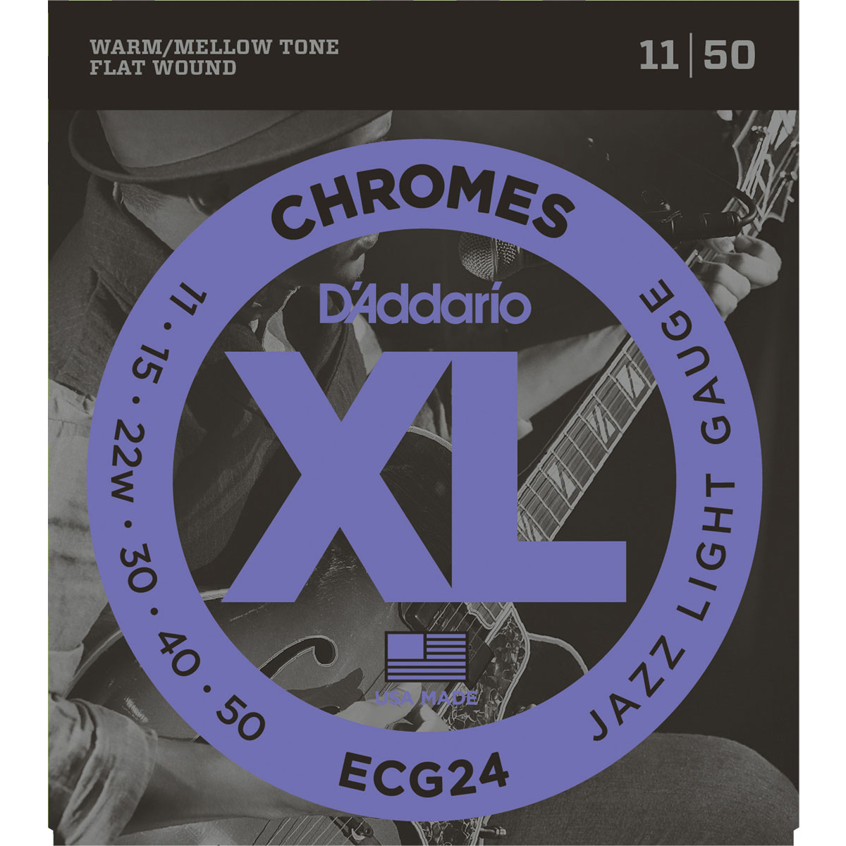 D'Addario Flatwound Guitar Strings 11-50