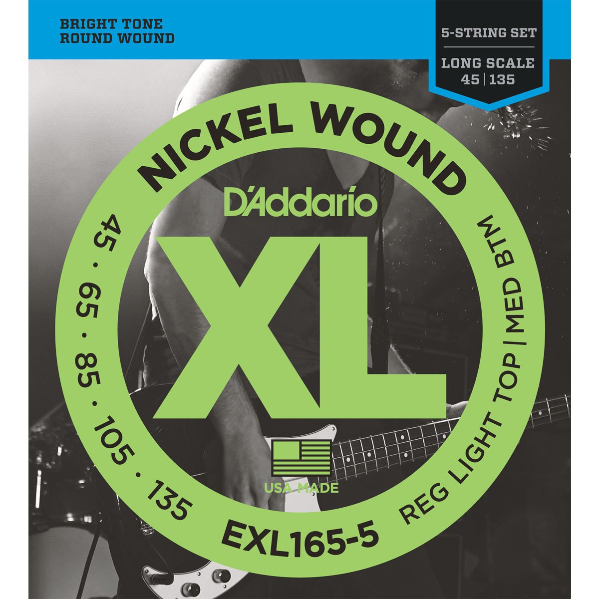D'Addario EXL165-5 5 String Bass Strings