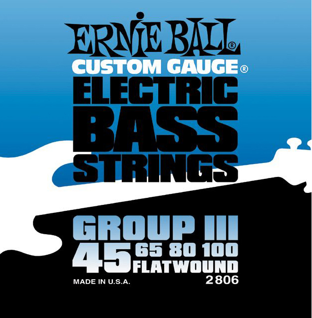 Ernie Ball 2806 Bass Group lll Flatwound Bass Guitar Strings