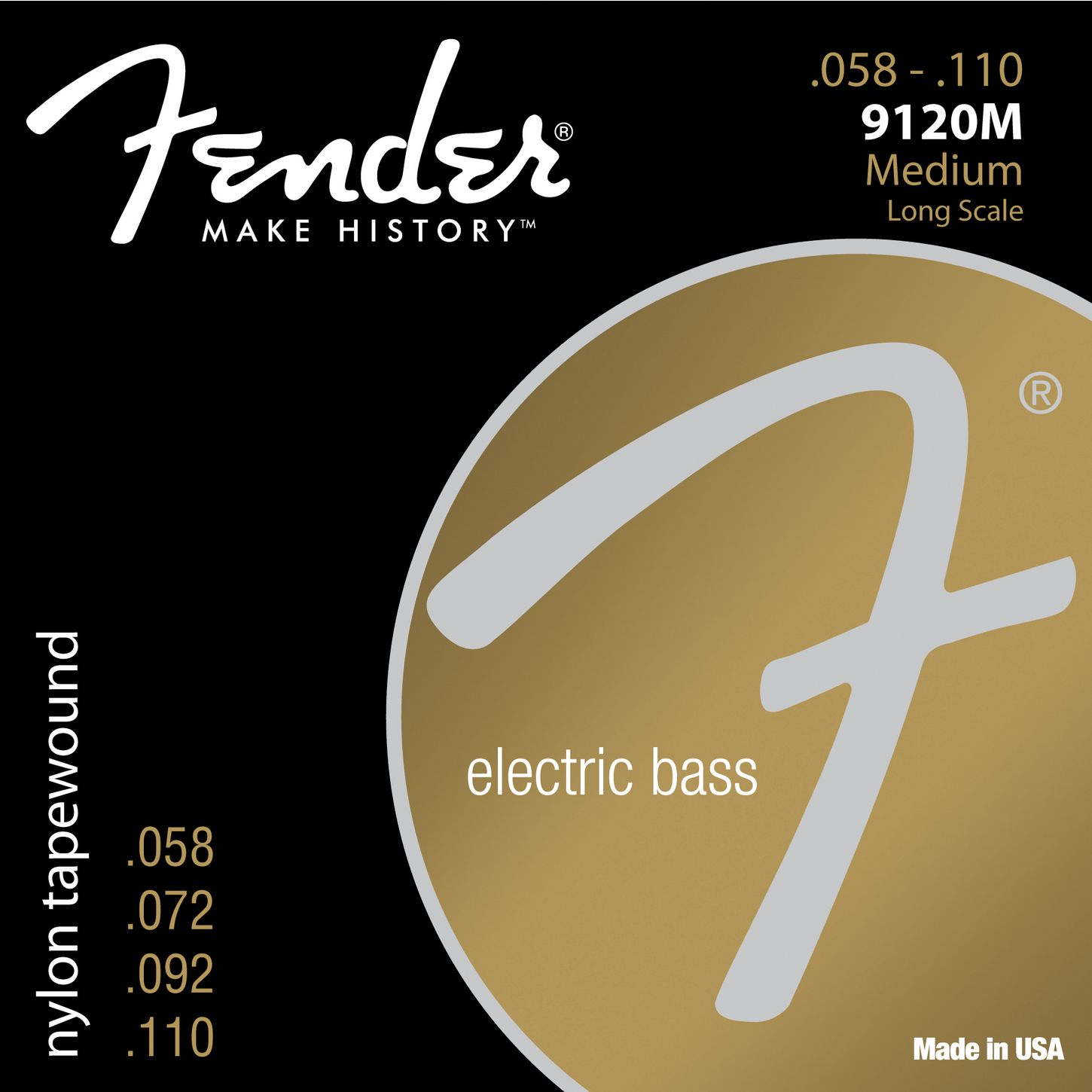 Fender 9120M Tapewound Bass Guitar Strings