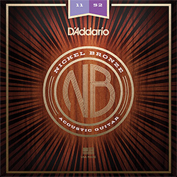 D'Addario NB1152 Nickel Bronze Acoustic Guitar Strings 11-52