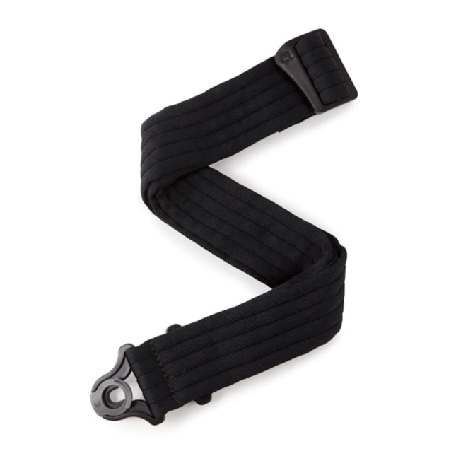 D'Addario Auto Lock Guitar Strap Black Padded Stripes