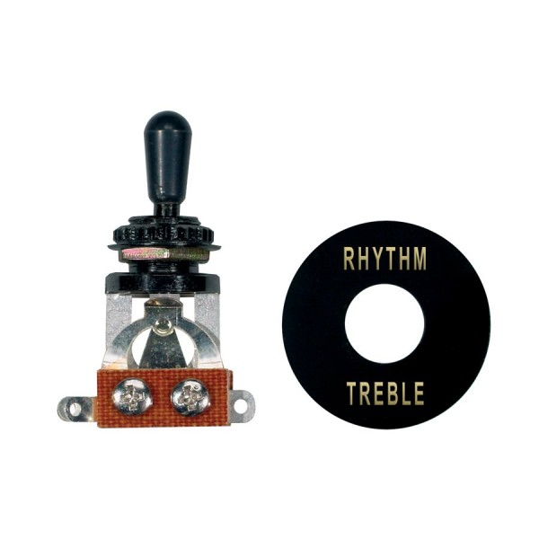 Boston Toggle Switch 3-Way, With Black Plate And Cap