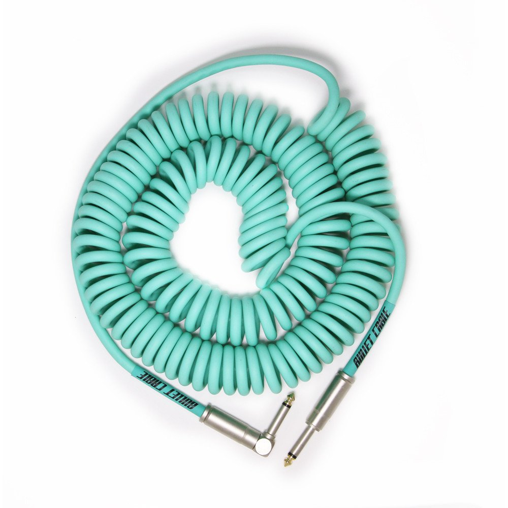 Bullet Cable Krulkabel 9M Seafoam Green