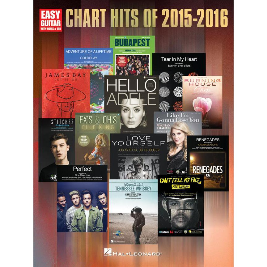 Chart Hits 2015-2016 Easy Guitar