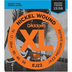D'Addario EJ22 strings for Electric Guitar