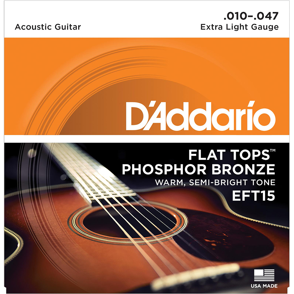 D'Addario EFT15 Flatwound Acoustic Guitar strings