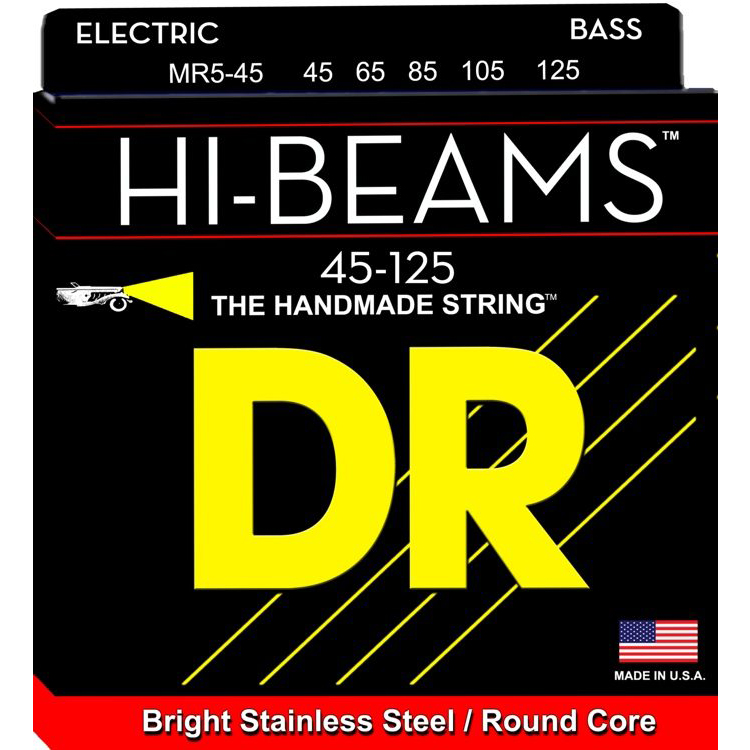 DR MR5-45 Hi Beams Strings For 5 String Bass Guitar