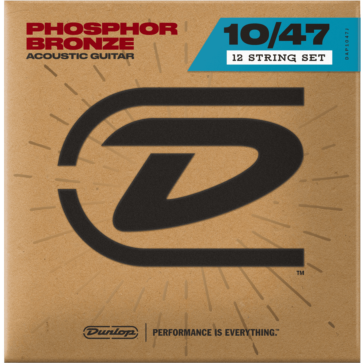 Dunlop DAP1047J 12 String Acoustic GUitar Strings 10-47