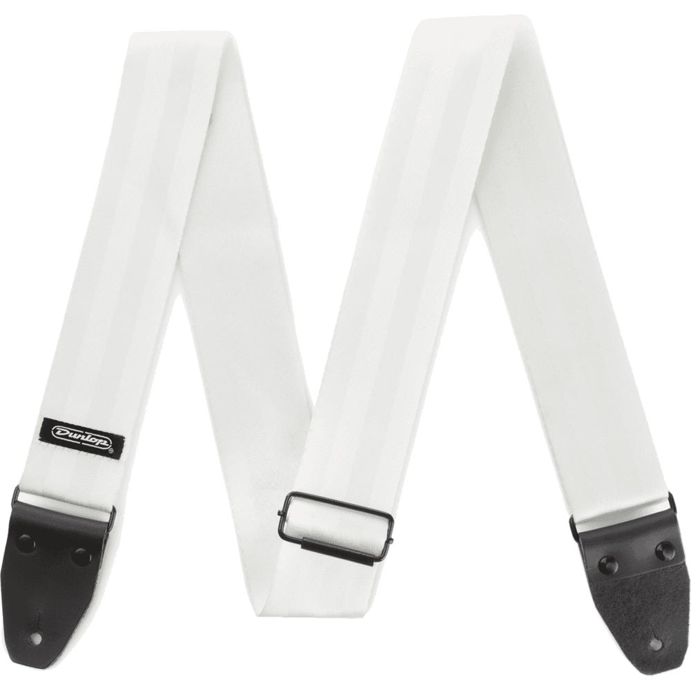 Dunlop DST7001WH Deluxe Seatbelt Strap White