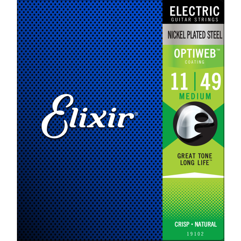 Elixir 19102 Optiweb Medium 11-49 Gitaar Snaren