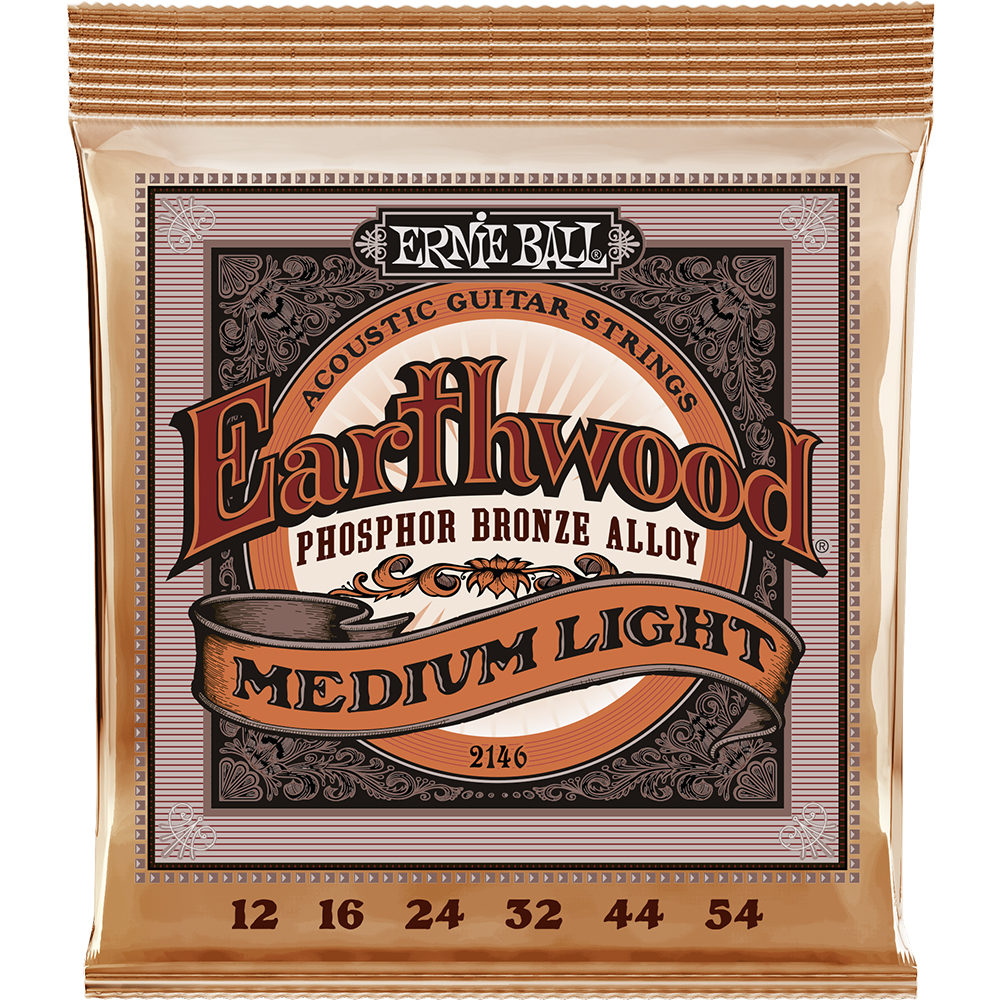 Ernie Ball 2146 Earthwood Phosphor Bronze 12-54