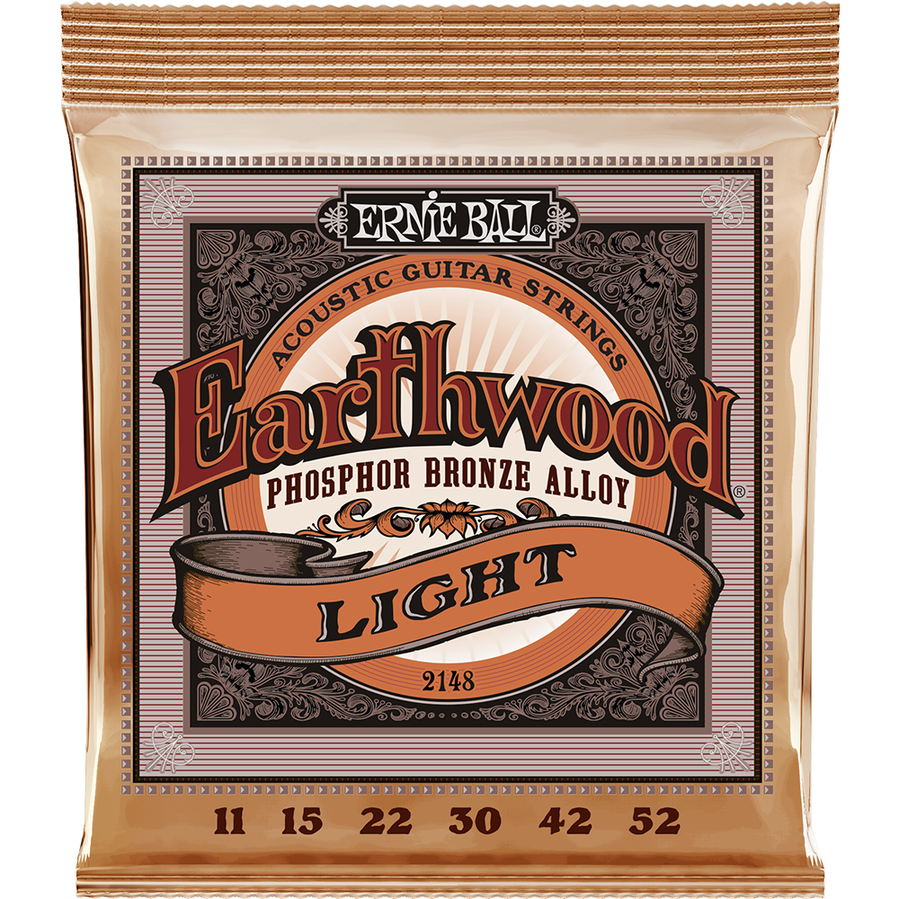 Ernie Ball 2148 Earthwood Phosphor Bronze 11-52