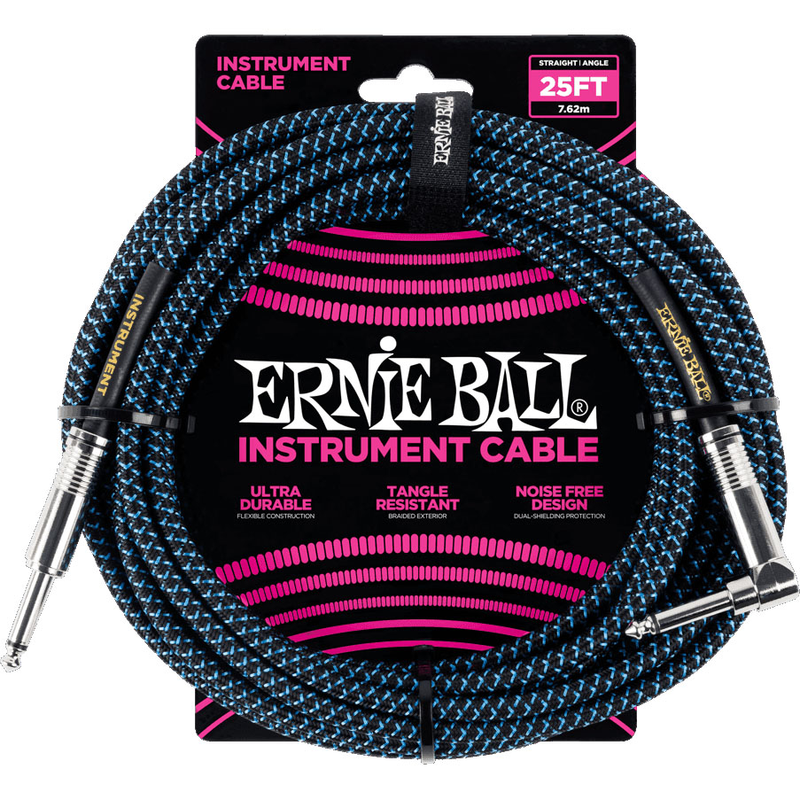 Ernie Ball 6060 Braided Instrument Cable 7.5M Black/Blue
