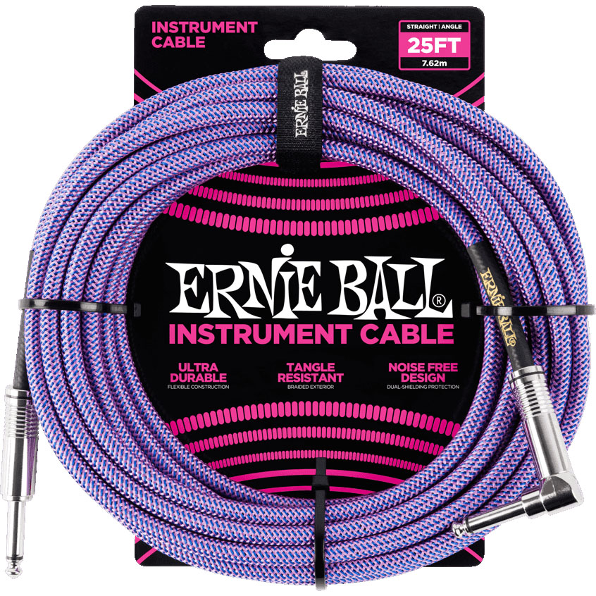 Ernie Ball 6069 Braided Instrument Cable 7.5M Purple