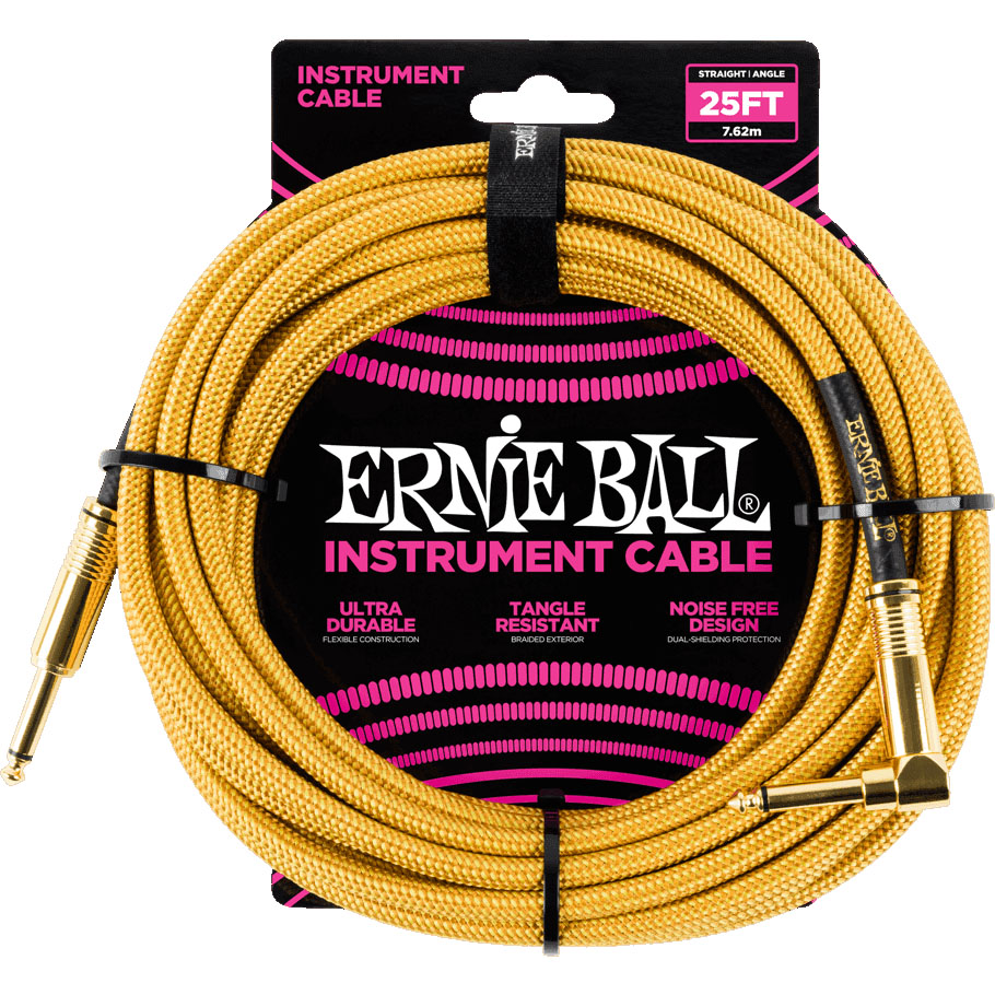 Ernie Ball 6070 Braided Instrument Cable 7.5M Gold