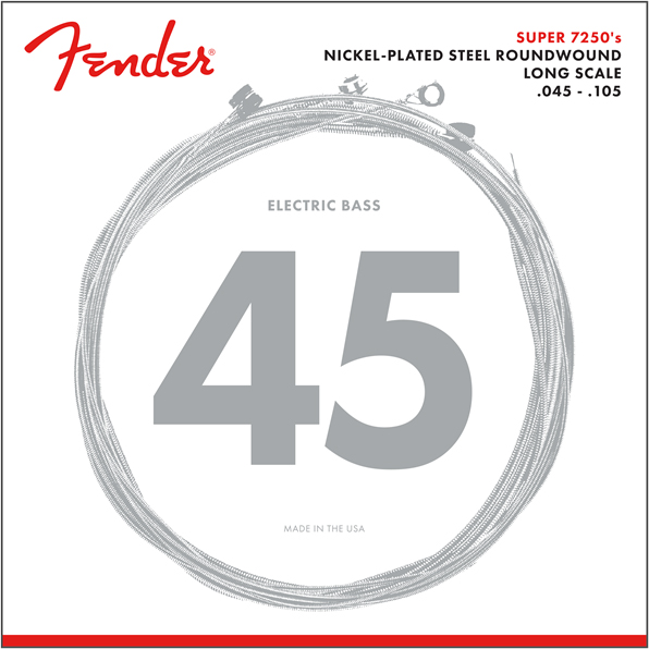 Fender 7250M Nickel Plated Bass Guitar Strings 45-105