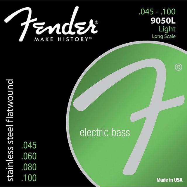 Fender 9050L Stainless Steel Bass Guitar Strings 45-100