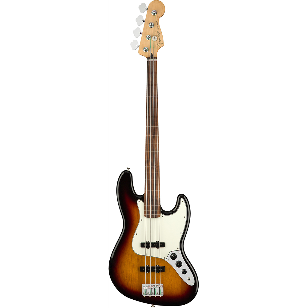 Fender Player Jazz Bass Fretless PF 3 Color Sunburst