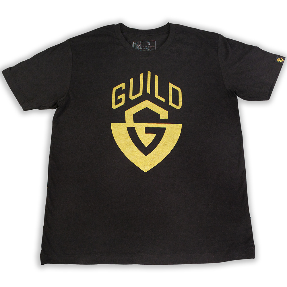 Guild Distressed G-Shield Crew Tee Black M