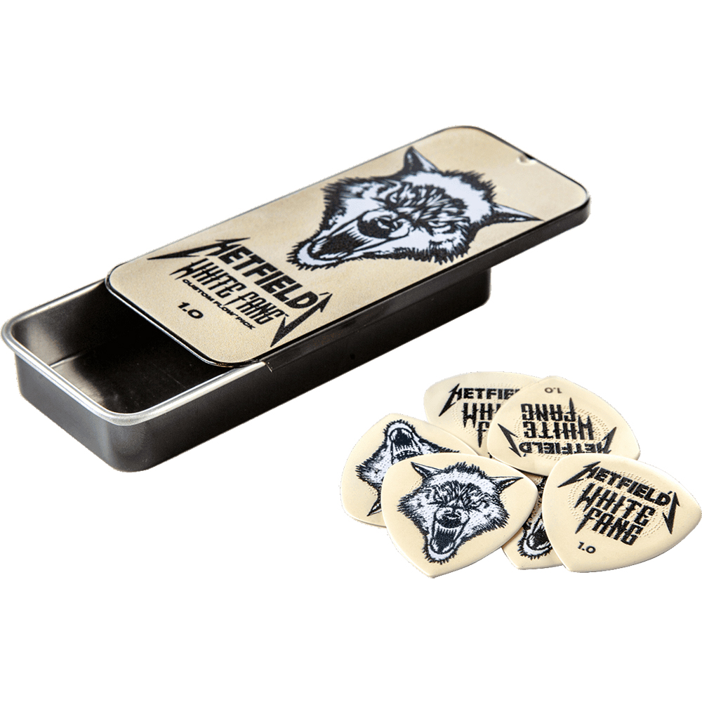 Dunlop Hetfield White Fang Pick Tin 1.00mm 6 Pcs