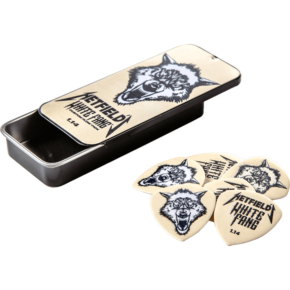 Dunlop Hetfield White Fang Pick Tin 1.14mm 6 Pcs