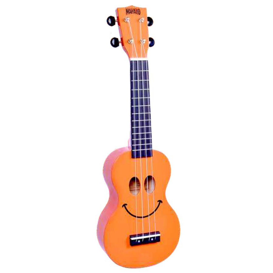 Mahalo Soprano Ukelele Smiley Orange