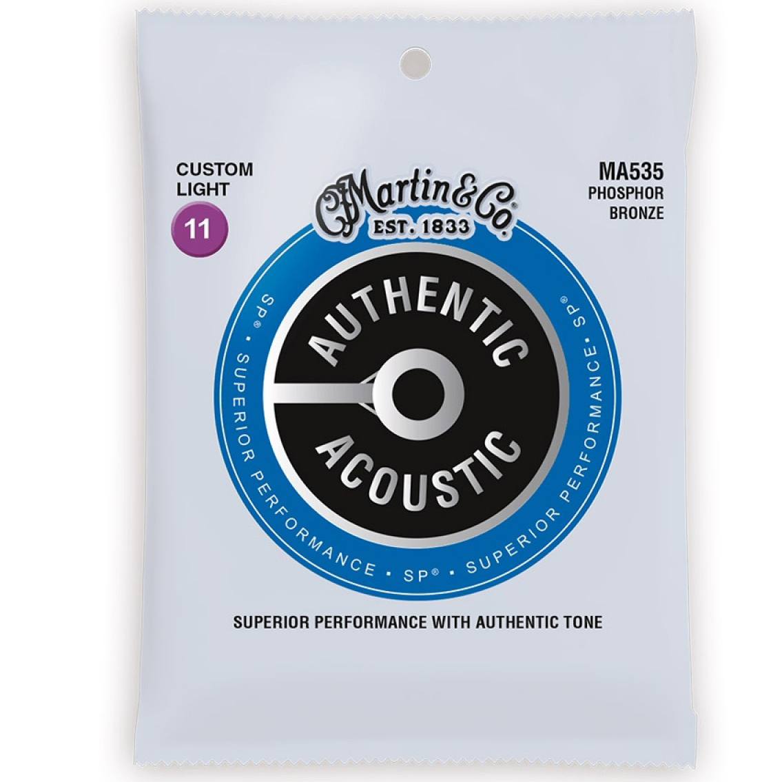 Martin Strings MA535 Authentic Acoustic SP Phosphor Bronze 11-52