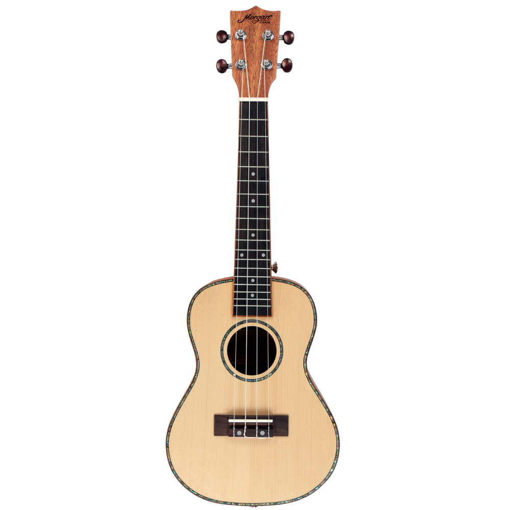 Morgan C250-S Natural Concert Ukelele Solid Top