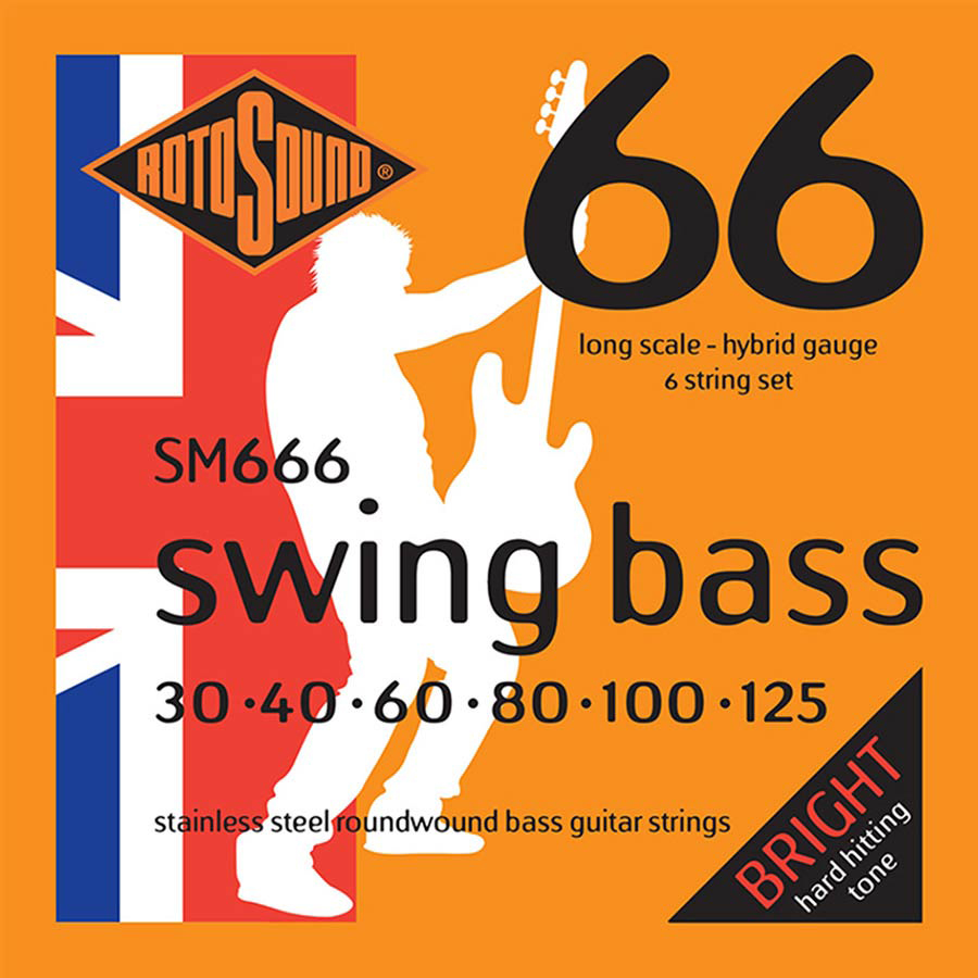 Rotosound SM666 Strings For 6-string Bass