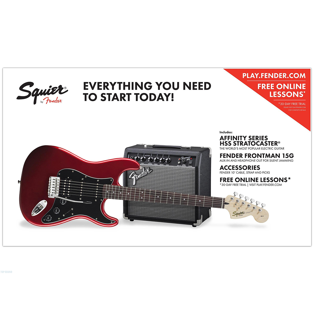 Squier Affinity Strat HSS Frontman 15G Candy Apple Red