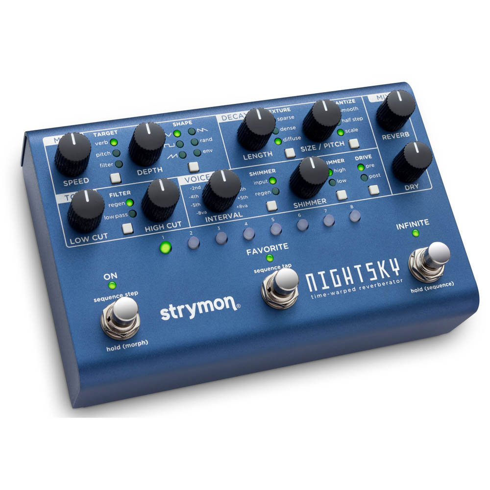 Strymon NightSky Time Warper Reverberator Pedal